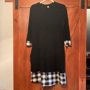 Tickled teal women's lightweight sweater dress - L